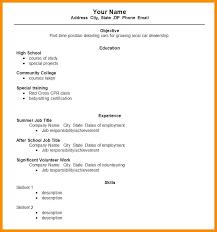 writing a basic resume exles exle of simple resume for student prepasaintdenis com