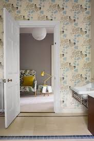 wallpaper for bathroom ideas children s bathroom with chicken wallpaper bathroom design ideas
