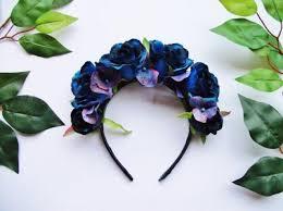 day of the dead headband blue hydrangea flower crown crown wedding bridesmaid