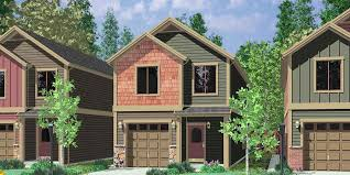 house plans narrow lot duplex house plans narrow duplex house plans d 542