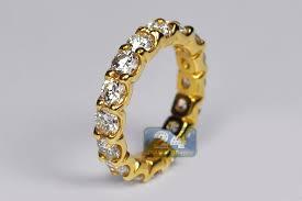 gold eternity ring womens diamond wedding eternity band ring 18k yellow gold 4ct