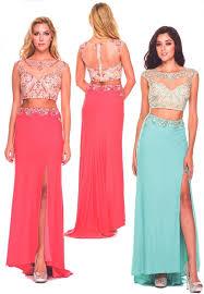 top design evening dresses prom dresses br 586 br two crop top dress