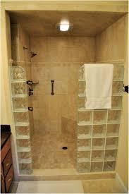 bathroom rain shower ideas small glass sliding doors beige tile