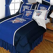 Okc Thunder Home Decor Amazon Com Nba Oklahoma City Thunder Full Bedding Set Basketball