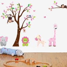 chic animal nursery wall decal removable jungle tree sticker full size baby nursery impressive tree animal wall decal vinyl art zoo