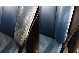 reparation siege cuir voiture kit de retouche cuir pour restauration de couleur exemple sur