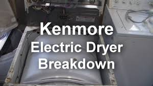 how to take apart a kenmore dryer youtube