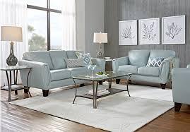 sofas for living room 1 899 99 livorno aqua light blue leather 3 pc living room