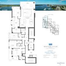 azure floor plan water club north palm beach azure