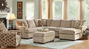 Sectional Living Room Sets Brenton Court Platinum 5 Pc Sectional Living Room Family Rooms