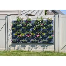 hex vertical garden wall hanging plant flower planter pot panel