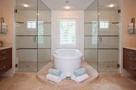 master bathroom designs with sweet decoration decpot awesome master bathroom design ideas with double clear glass shower bath furnished white bathtub and also completed vanity drawers