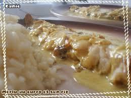 cuisiner poisson surgelé merlu au curry et riz canie la gnou