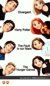 The Hunger Games Memes - divergent harry potter the fault sy in our stars the hunger games