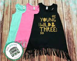 young wild and three dress etsy