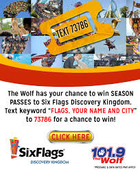 Six Flags Com Pass The Wolf Sacramentostart Win Season Passes To Six Flags