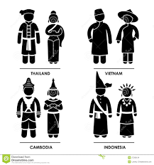 east clothing southeast asia clothing costume royalty free stock photo image