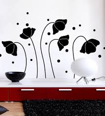 home decor line buy vinyl balck flower silhoutte wall sticker by home decor line