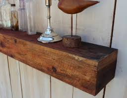 Reclaimed Wood Floating Shelves by Reclaimed Wood Floating Wall Shelf Farmhouse Chic