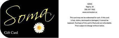 salon gift card promotions contests event months holidays soma salon spa