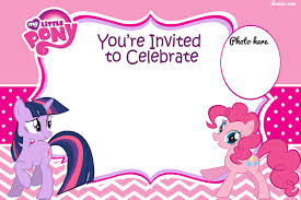 free rainbow birthday invitations updated free printable my little pony birthday invitations