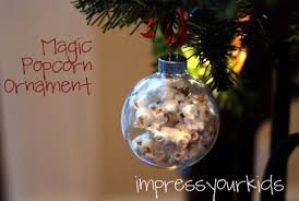 handmade magic popcorn ornament