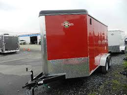 Red Barn Trailers Carry On 7 X 12 V Nose Enclosed Dual Axle Barn Doors