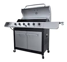 Patio Bbq By Jamie Durie Char Broil 6 Burner Gas Grill With Side Burner Shop Your Way