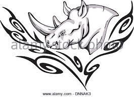 rhinoceros tattoo tribal stock vector art u0026 illustration vector