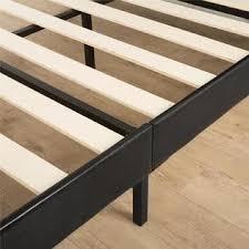 Platform Bed Slats Zinus Deluxe Faux Leather Upholstered Platform Bed With Footboard