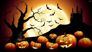 jack o u0027 lanterns on halloween night wallpaper holiday wallpapers