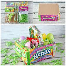 diy easter basket diy candy easter basket for kids crafty morning
