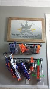 Nerf Gun rack Nerf gun rack Pinterest