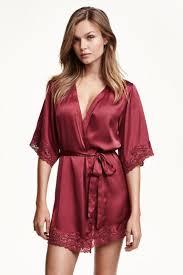 robe de chambre en satin kimono en satin h m mode nuit chemise de nuit et