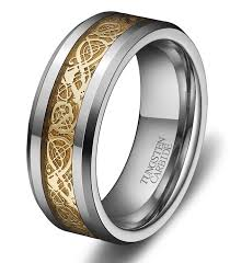 tungsten rings from images Gold dragon tungsten carbide ring 8mm jpg