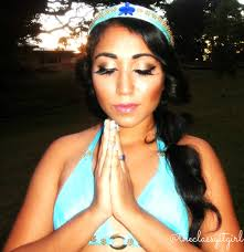 princess jasmine diy no sew u0026 makeup roxy james