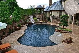Best Backyards In The World Pebble Pool Finishes Pebble Tec