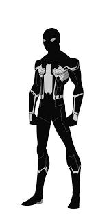 spider man civil war black suit shorterazer deviantart