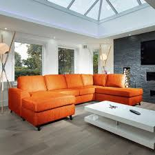 Modern Luxury Sofa 14 Best Orange Sofa Images On Pinterest Modern Living Rooms