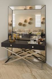 mirror behind console table design ideas modern console table with