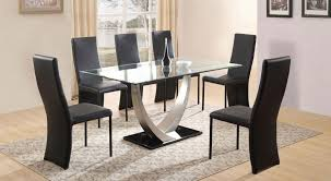 glass and chrome dining table dt 4064 glass top dining table tradeasia global suppliers asia