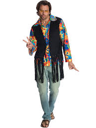 Halloween Party Costume Ideas Men Mens Flower Power Hippie Costume Wholesale Hippie Costumes For