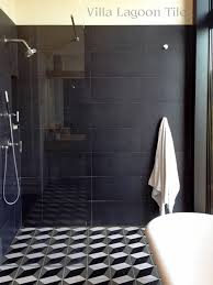 brooklyn townhome bath shower with our large cubes black white