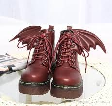 womens boots in style 2017 style cool wings high platform lace up martin boots
