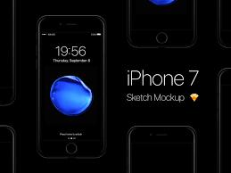 iphone 7 u2013 jet black sketch mockup u2013 uxfree com
