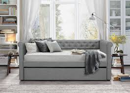 bedroom upholstered daybed with dark brown fabric daybed with two