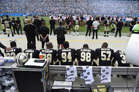 brees saints will kneel before national anthem sunday then stand