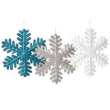 snowflake ornaments plastic snowflake ornaments m n party store