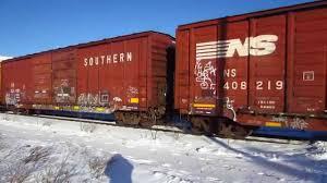 box car grand elk railroad train with ex s u0026nc boxcar and csxt box car