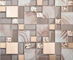 Gold Items Crystal Glass Mosaic Tile Wall Backsplashes by Glass Blend Metal Mosaic Kitchen Backsplash Tile Ssmt113 Gold